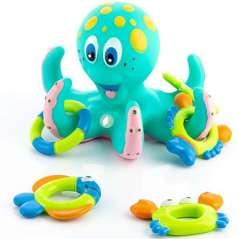 Brinquedo De Banho Flutuante De Polvo Com Anéis