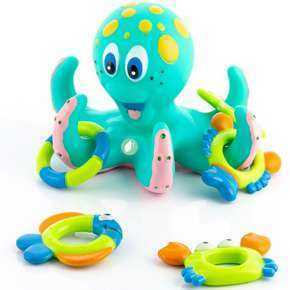 Floating Octopus Bath Toy With Rings