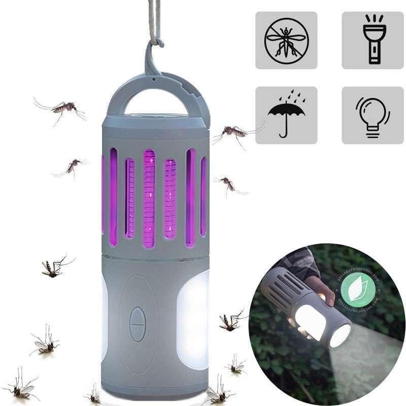 Lámpara Para Mosquitos Portátil Con Luz Led 3 En 1