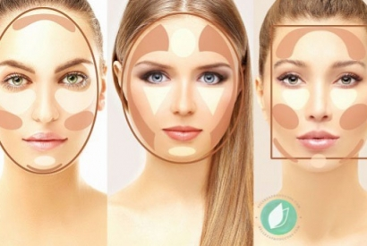 Apply the blush according to the shape of your face